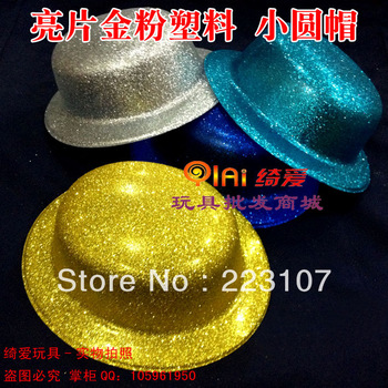 Paillette powder plastic small round light flower hat sun hat party hats