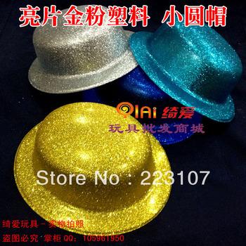 Paillette powder plastic small round light flower hat sun hat party hats
