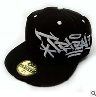 Free shipping street dance big side flat along the hip hop cap embroidery and black baseball cap