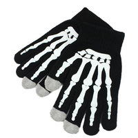Skeleton fingers Screen touch gloves for Iphone Ipad touch glove 2colors 2pairs/lot