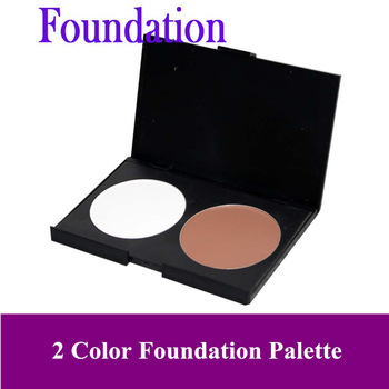 Free Shipping- Hot 2 Color Makeup Face pressed Powder, Cosmetic Foundation Palette.