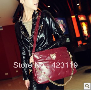 2013 vintage bag diamond chain bag shoulder bag handbag all-match women's m03-062(China (Mainland))
