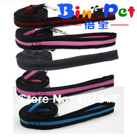 Free Shipping! Wholesale 12 pcs Air Mesh Soft dog leash,pet leash, 5 color assorted
