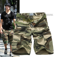 2014 Popular New Hot Camouflage Print Beach Shorts Men Sweatpants Cotton Cargo Shorts Casual Camo Shorts Free Shipping