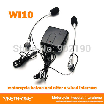 10pcs/lot Free Shiping wired motorcycle helmet headset motorcycle intercom Lower power consumption interphone high quality