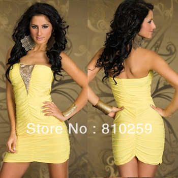 865 free shipping 2013 summer women new fashion sexy shining tube top off shoulder lingerie clubwear dress ladies party dresses
