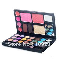Cheek Cosmetics Palette Powder Cake 21Color Blush Eyeshadow Makeup Lip Gloss Kit H0811 P