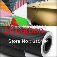 Free Shipping 152*60cm 11 Colors 3D Carbon Fiber Vinyl/Carbon Fiber Film/Carbon Fiber Sticker Car Wrapping Potection Foil