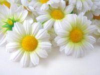 """24X  Gerbera Daisy Heads Artificial Silk Flower  1.75""""  White"""
