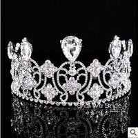 Free Shipping! Continental Big Rhinestone Fashion Wedding Hair Accessories Bridal Tiaras Crown HG140