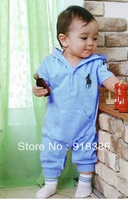 Free Shipping 2013 New Design Baby Polo Romper Baby One-Piece Short Sleeve Cotoon Clothes For Summer Boys Girls Sport Clothing