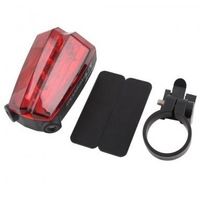 Outdoor Cycling Camping Bike Bicycle Laser Beam 5 LED Rear Tail Light Safe Lamp #22524