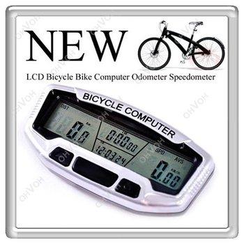 S5V 4in1 New LED Display Waterproof Digital Bicycle Bike Computer Speedometer Odometer Free Shipping