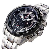 2015 Real Relogios  Hongkong Brand Mens Sports Watch Japan Movement Race Timing Chronograph Waterproof 100m Back Light