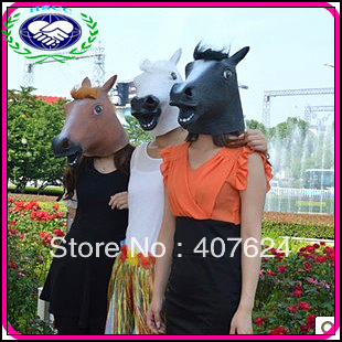 Free Shipping 5pcs/lot latex Horse Mask / theme party animal full head mask(China (Mainland))