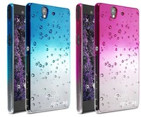 Free shipping, the case for Sony L36i L36h Xperia Z, Imak dazzle colour gradient rain shell