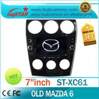 lsqstar car radio  for old mazda 6 with gps navigation,bluetooth,RDS,usb,sd.TV.....