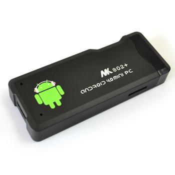 MK802 Android 4.0 Mini PC DDR3 1GB RAM 4GB ROM Wifi Smart TV BOX IPTV Google Internet TV Stick Black