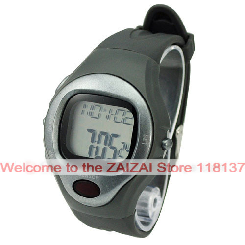 Free shipping New Multi-function Sport Waterproof Alarm Chronograph Sensor Pulse Heart Rate Calorie Watch(China (Mainland))