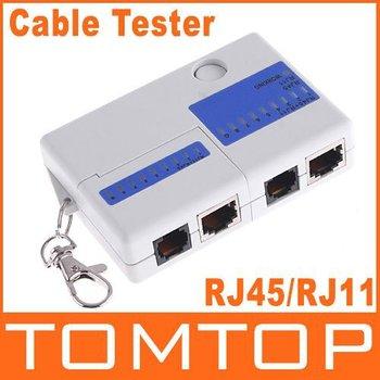Mini RJ45 RJ11 Cat5 Network LAN Cable Tester KeyChain