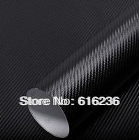 2013 The cheapest 3D 32cm x127cm Carbon Fibre sticker Vinyl Sheet BLACK For All Car interior and exterior