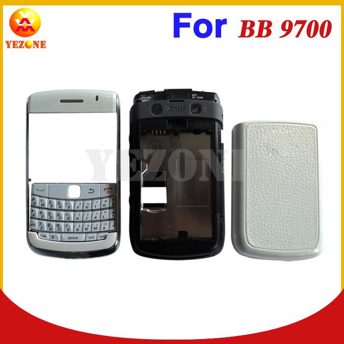 Free Shipping Original Full Housing Cover Case For Blackberry Bold 9700 Faceplate& Battery Cover&keypad&Lens&Midplate&Trackball(China (Mainland))