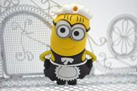 Cartoon maid yellow people Minions USB Stick (White) 4GB 8GB 16GB 32GB 64GB Free Shipping