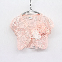 Free shipping 5pcs/lot new summer kid's lace coat ,girl flower capelet ,children lace Shawl GC-089