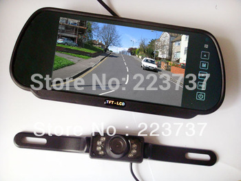 7 inch car monitor +7 light night vision camera Free Shipping