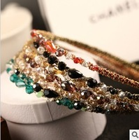 Free shipping 2013 Ks Style Fashion  Jewelry For Women Crystal  Hairbands Glitter Headbands Hair Accessories