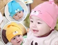 5pcs/lot free shipping 100% pure cotton newborn baby hat  infant cap Cotton Beanie Infant Hat Skull Cap Toddler Boys&Girls Hats