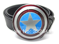 Captain America shield belt buckle with Free belt , Free shipping worldwide
