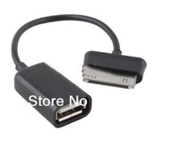 USB Host OTG Adapter Cable For Samsung Galaxy 10.1 Tab 2 Tablet pc Free Shipping  With Polybag