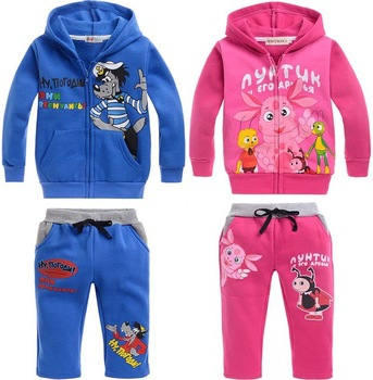 2013 new!! free shipping children set(5pcs/1lot)boys suits 100%cotton hoodie+pants cartoon clothes boys autumn wear FZ201305