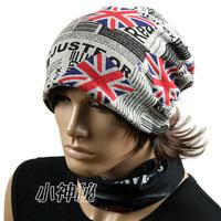 NEW CAP~Free shipping~M word flag rings light hat   Women hat   female pullover cap