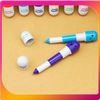 (Free Shipping CPAM) 30PCS/LOT Novelty Smiling Face Pill Ball Point Pen Telescopic Vitamin Capsule Ballpen H-102A