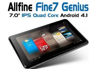 Free shipping Quad Core AllFine Fine7 Genius 7inch IPS Screen  ATM70291.5GHz 1GB RAM 8GB Webcam WIFI HDMI Tablet PC