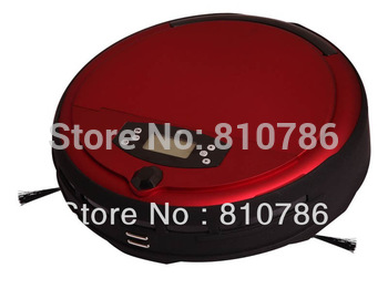 Free Shipping Voice Function Auto Vacuum Cleaner With Time Setting,LCD ,UV Light,Self Recharge,Two Side Brush,0.7L Dustbin,