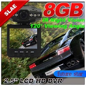 Portable DVR Car Video Vehicle Camera In-Car IR HD Recorder Road Crash Cam DVR-1 8G