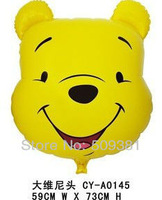 10 pcs/Lot, Free Shipping, Wholesale, Big Size Winnie Cartoon Helium Balloons, Baby's Toy & Gift. Wedding and Party decoration