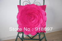 cushion cover cushion shell pillowcase 3D Flower poly felt decorative cushion home popular hot selling low price factory selling