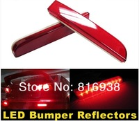 High quality Red Lens LED Bumper Reflectors For Mitsubishi Lancer Evo Taillight Brake Lights With turn