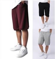 Free shipping /Summer thin knitted 100% cotton sportswear shorts men's basketball pants knee-length pants capris