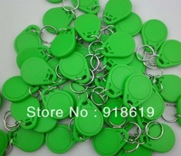 Green  (50pcs/Lot)! Strong Plastic NTAG203 NFC Keyfobs 13.56MHZ ISO14443A 100% compatible with all nfc mobile phones