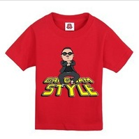 All-match child t-shirt bird style solid color short-sleeve T-shirt gangnam 001 style free shipping