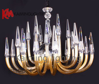 Free Shipping white modern simple chandelier for living room, bedroom lighting fixture with 18 lights KM6010-12+6