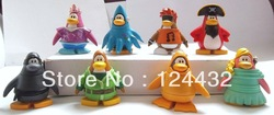 Club Penguin Mix N Match Figure 8PCS SET LOT Captain Rockhopper(China (Mainland))