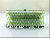 women bag 2013,new green crystal bags,women luxury fashion clutch evening bag.free shipping wholesale