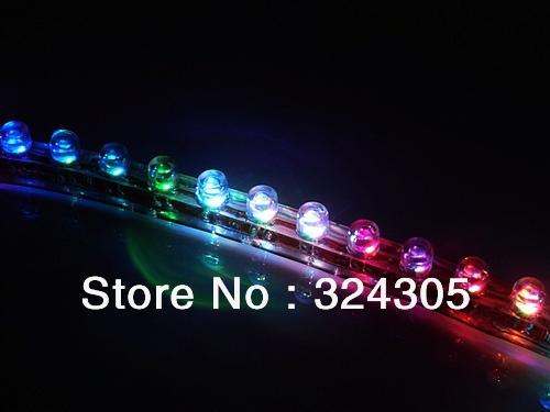 24cm LED motorcycle car bike decoration waterproof DC12V Flexible led Strip Light flash RGB white blue yellow red green