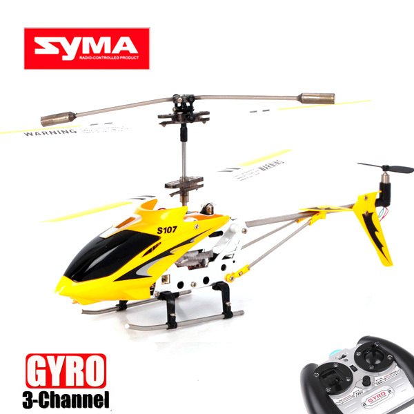 New S107G Mini 3CH IR Wireless R/C Remote Control Helicopter With Gyro Yellow Free shipping &wholesale(China (Mainland))